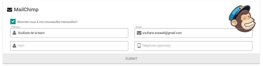 Abonnement conditionnel à la newsletter